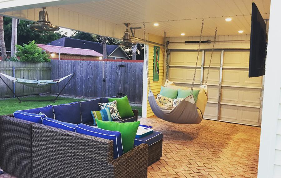 Hammock Beanbag Combo Contemporary Home Garden Furniture